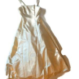 GUNNE SAK JESSICA MCCLINTOK Ivory satin midi gown